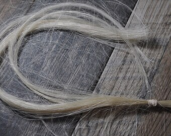 Real White Horse Hair Tribal Native American Crafting