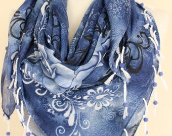 Turkish Yemeni scarf  Beaded scarves beaded velvet scarf  square scarves