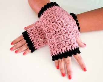 Stylish Gloves - Fingerless Gloves - Christmas Gift - Winter Fashion - 100% Handmade by T. Catana. Ready to Ship!