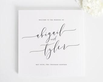 Romantic Calligraphy Wedding Programs - Deposit