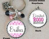 Birth Date Limited Edition Key Chain, Personalized Keychain, Milestone Birthday Gift, Custom Name, 30th, 40th, 50th