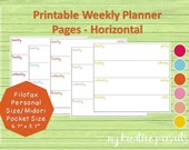 Weekly Planner Pages - Ho...