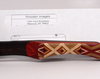 Wooden Letter Opener, Ziracote