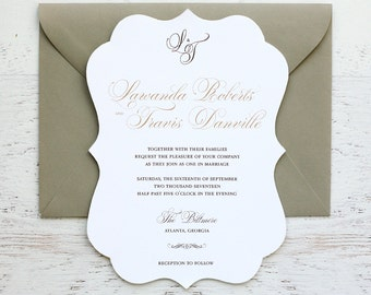Lawanda Custom Wedding Invitation
