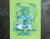 Medusa - hand pulled screenprint poster