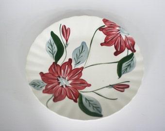 vintage blue ridge plate poinsettia pattern