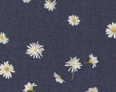 The Denim Studio by Art Gallery Fabrics - 80/20 BTY WIDE - Ragged Daisies Smooth Denim P-1002