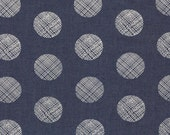 The Denim Studio by Art Gallery Fabrics - 80/20 BTY WIDE - Pointelle Rings Smooth Denim P-1006