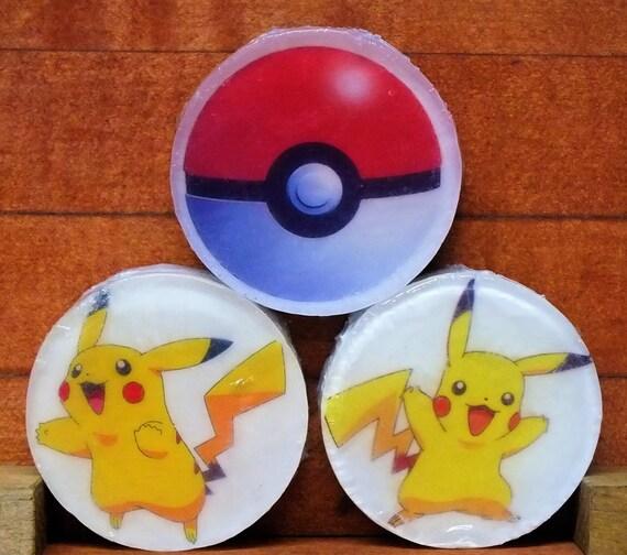 Pokeman Three 3 oz Pokeman Glycerin Soaps  Free Shipping