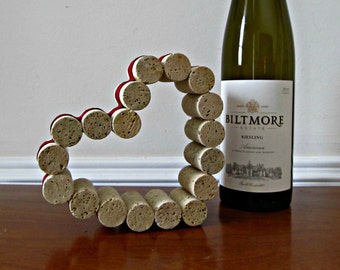 Wine Cork Heart - Valentine's Day, Wedding, Wine Lover, Ornament, Accent, Home Decor