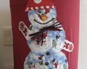 Water Cooler Cover Snowman Dancing - Dispenser Decorative- Water Bottle Standard Size