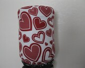 Valentine Decor Cover- white Dark Red