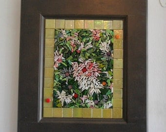 Peony lover - Garden art - Mosaic Art - Glass Art - Stained Glass - Garden lover - Peony Garden - Home decor - Mosaic - Mosaic lover - Glass