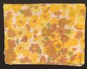 Vtg Pillowcase - Yellow and Brown Flowers - Wamsutta