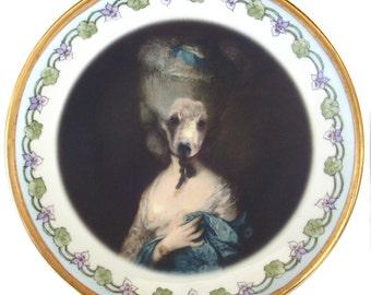 """Marie Beartoinette - Altered Vintage Plate 8.5"""""""