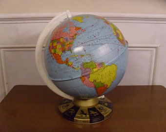 Vintage 1960's  Ohio Art World Globe