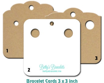 Bracelet Cards - Custom Bracelet Holders - Personalizes Cards - Jewelry Cards - Earring Cards - Necklace Cards