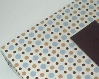 Boy Baby Book Blue Brown Polka Dot Pregnancy Journal Personalized Baby Gift Baby Memory Scrapbook