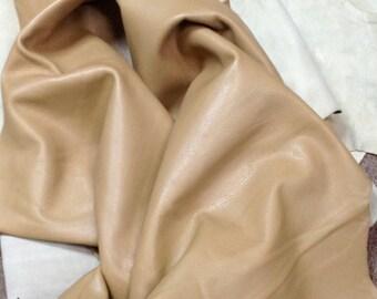 BR508.  Dark Tan Leather Cowhide Upholstery