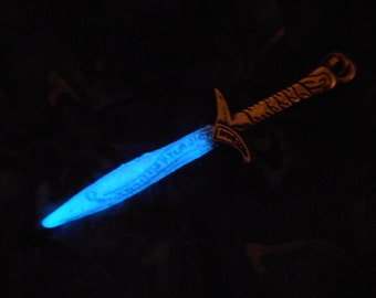 Glow in the Dark jewelry Sword Saber Necklace, Unisex Viking Celtic Norse Gothic Punk Ulfberht Kirito Kamen Rider Black  - 8 hour Glow!