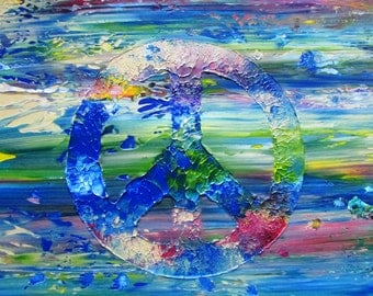 Peace Sign Abstract Original Painting