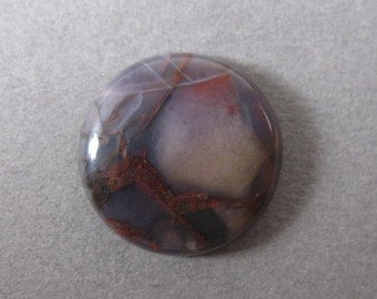 Purple Cow Jasper Round Cabochon 17.5 mm - 11/16 inch