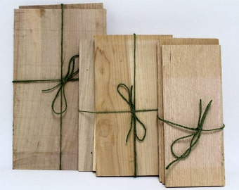 """Grilling Planks 6"""" x 8"""" - Sustainably Harvested Wood"""