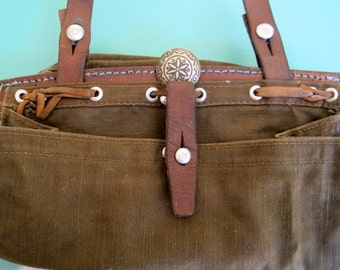 Vintage Swiss Bag with Silver Native American Button -1982