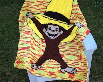 Crochet Curious George blanket