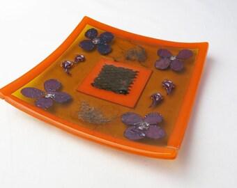 Rustic Flower Plate