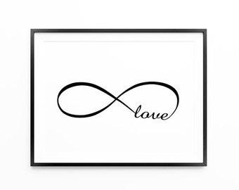 Infinite Love Print , Love Print , Love, Valentine's Day Gift, Anniversary Gift, Large Wall Art, Oversized Art, Trending Items, Trending Now