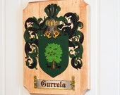 Custom Wood Burned Coat of Arms