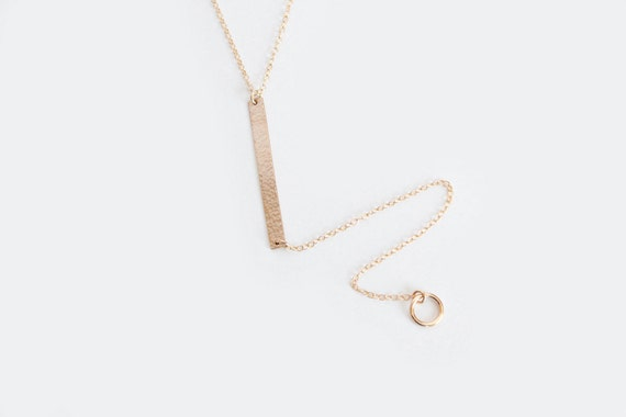 Long Layering Necklace - Lariat Necklace - 14k Gold Filled - Simone