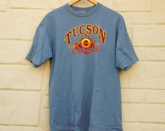Vintage 90s Tucson Arizona T-shirt Southwestern Tribal Boho Hippie Hipster