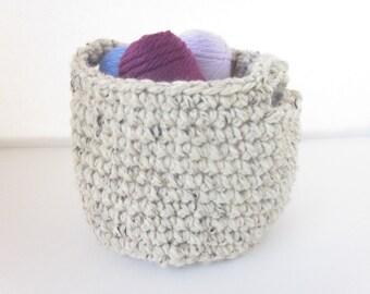 Crochet Basket-Handmade Crochet Storage Basket- Organizing Basket