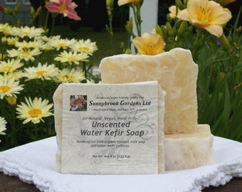 Unscented Water Kefir Hand-milled Soap, all natural, vegan friendly, hand-crafted with organic ingredients