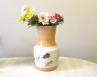 Large ceramic vase, Autumn leaves design vase, huge china vase, porcelain flower vase, Radford England, hand painted vase, large flower vase