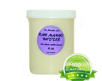 8 Oz  Raw Pure Organic Mango Butter