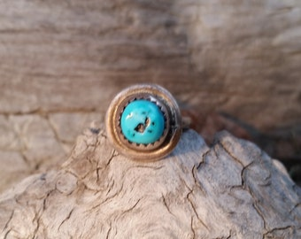 Antique Navajo Child's Turquoise Ring
