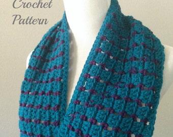 CROCHET PATTERN - Chunky Crochet Infinity Scarf Pattern, Chunky Scarf Pattern, Crochet Infinity Cowl Pattern, Crochet Scarf Pattern