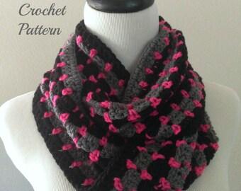 CROCHET PATTERN - Chunky Infinity Scarf Crochet Pattern, Chunky Cowl Pattern, Infinity Cowl Crochet Pattern, Crochet Scarf Pattern