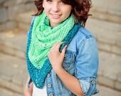 PDF Crochet Pattern - Sunkissed Triangle Scarf Women, Teen, Girl, Easy,