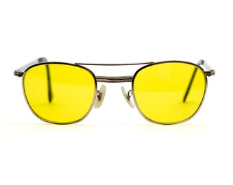 Vintage Deadstock American Optical Aviation Sunglasses - Yellow