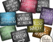 Plastic Photo Booth Phrases - REUNION MIX - Set of 5 signs