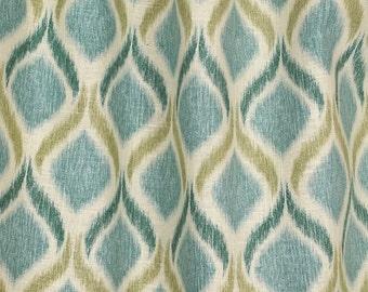 Giorgio Fresco Blue Green Ikat Fabric