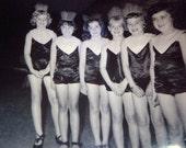 Vernacular Photo Snapshot 1960s Girls Pre-teen Drill Team Dance Group