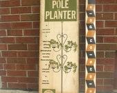 Vintage Tension Pole Planter