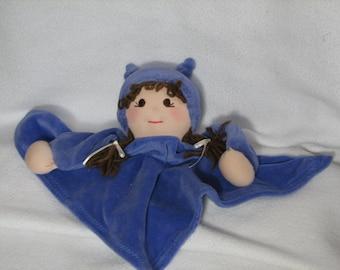 Waldorf Blanket Baby Girl  Doll - Security Blanket Doll in Purple RTG