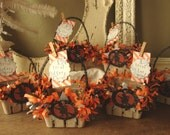 For Lyndsey Halloween gift basket party favors candy containers embellished altered paper berry basket gift bag wrapping packaging for frien