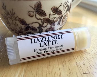 Hazelnut Latte Lip Balm, Hazelnut Latte Lip Butter, coffee lip balm, coffee lip butter, hazelnut lip balm, hazelnut lip butter, nut free